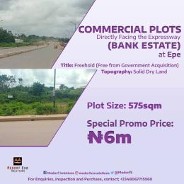 Commercial Land Land for sale Commercial plot directly facing the epe road Epe Road Epe Lagos