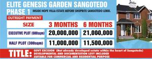 Land for sale INSIDE HOPE VILLE ESTATE SANGOTEDO Majek Sangotedo Lagos