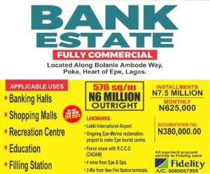 Commercial Land Land for sale Bolanle Ambode Way, POKA, EPE, Lagos (An Urban  Developing Town). Epe Road Epe Lagos