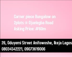 Detached Bungalow House for sale Ojuelegba Surulere Lagos
