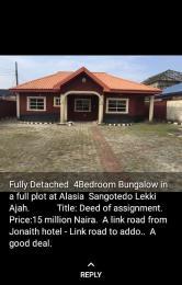 4 bedroom Detached Bungalow House for sale Alasia A Link Road Along Jonaith Hotel Sangotedo Ajah Lagos