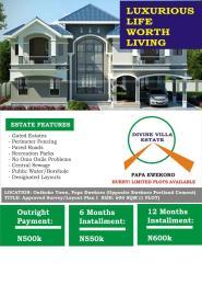 Residential Land Land for sale papa junction Papalanto Ewekoro Ogun