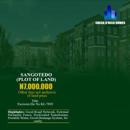 Residential Land Land for sale Behind Shoprite Monastery road Sangotedo Lagos