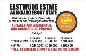 Residential Land Land for sale Behind Ebonyi state University Abakaliki Ebonyi