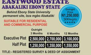Residential Land Land for sale BEHIND EBONYI STATE UNIVERSITY PERM. CAMPUS IZZAMUGBO Abakaliki Ebonyi