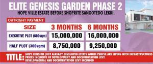 Residential Land Land for sale Hope Ville Estate Before Shoprite Sangotedo Lagos Bogije Sangotedo Lagos