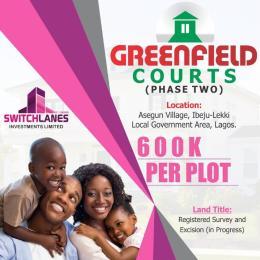 Residential Land Land for sale Asegun, Igbogun Road Epe Lagos