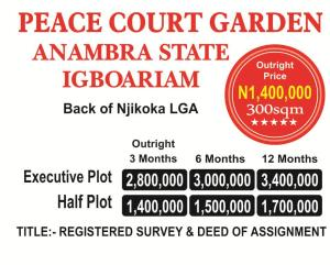 Mixed   Use Land Land for sale Back of Njikoka Local Government Igboariam Anambra State  Njikoka Anambra