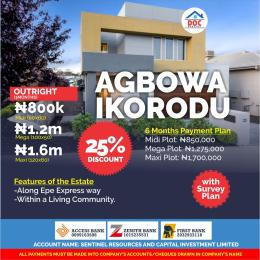 Serviced Residential Land Land for sale Agbowa Along Express way  Ikorodu Lagos