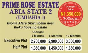 Mixed   Use Land Land for sale Beside Royal Dam Grate Hotel Road Ibeku  Umuahia North Abia