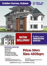 4 bedroom Residential Land Land for sale Cadastral Zone F14,Bazango. Kubwa. Before dantata estate Kubwa Abuja