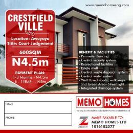 Land for sale Awoyaya opposite beechwood estate Awoyaya Ajah Lagos
