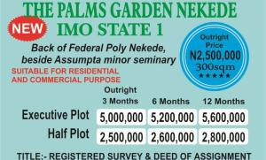 Mixed   Use Land Land for sale  Back of Federal Polytechnic Nekede  Owerri Imo