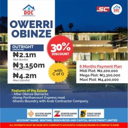 Serviced Residential Land Land for sale Along PortHarcourt Express Road after Obinze Barracks  Owerri Imo