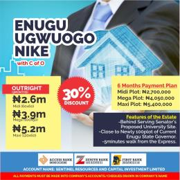 10 bedroom Serviced Residential Land Land for sale Ugwuogo Nike close to the Express  Enugu Enugu