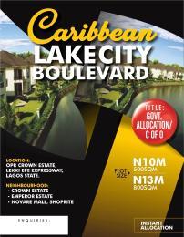 Mixed   Use Land Land for sale Opposite Crown Estate near Shoprite (Novare Mall)  Sangotedo Ajah Lagos