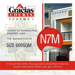 Serviced Residential Land Land for sale Off Monastery Road Behind Shoprite and close to the Express  Sangotedo Ajah Lagos