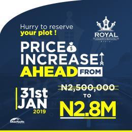 Residential Land Land for sale Otoolu/Igbo Olomo, 10 minutes drive from Free Trade Zone Ibeju-Lekki Lagos