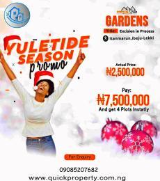 Residential Land Land for sale Itamarun Eleko Ibeju-Lekki Lagos