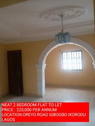 2 bedroom Self Contain Flat / Apartment for rent OREYO ROAD  Igbogbo Ikorodu Lagos