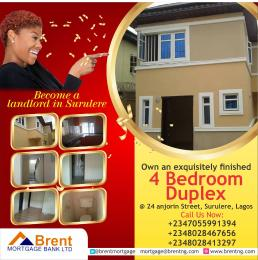 4 bedroom Detached Duplex House for sale 24 anjorin street, off cole street Coker Surulere Lagos