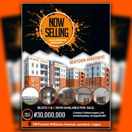 3 bedroom Flat / Apartment for sale The Newtown Apartments off funso Williams Avenue Behind Leadway Assurance,  Surulere Lagos