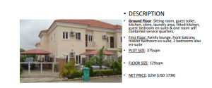 4 bedroom House for sale Plot 70 Kafe district behind Gwarimpa Kafe Abuja