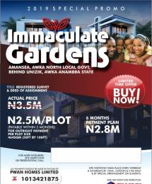 Residential Land Land for sale Amansea Awka behind UNIZIK  Awka South Anambra