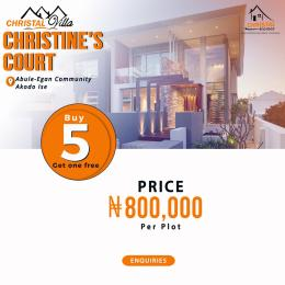 Residential Land Land for sale Abule-Egan Community in the Free Trade Zone  Akodo Ise Ibeju-Lekki Lagos