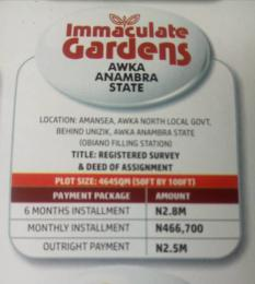 Residential Land Land for sale  Behind UNIZIK Amansea Awka Anambra State  Awka South Anambra