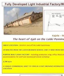 Factory Commercial Property for sale bogijie Off Lekki-Epe Expressway Ajah Lagos