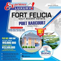 Mixed   Use Land Land for sale 	Along new airport road (after SARS before OPM), Port Harcourt Neighborhood ,Omega Power Ministries, SARS, Port Harcourt Port Harcourt Rivers