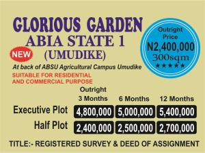 Commercial Property for sale Back of ABSU Agricultural Campus, Umudike Umuahia South Abia