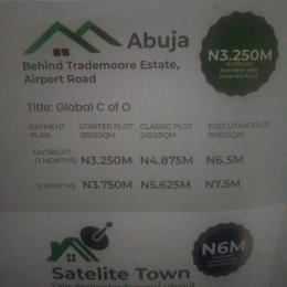 Residential Land Land for sale Behind trademoore Estate, airport road Central Area Abuja