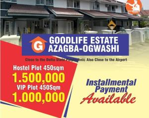 Residential Land Land for sale 1 minute drive to the delta state Polytechnic and 15 minutes to the Airport. Asaba Delta
