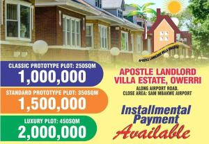 Residential Land Land for sale Along Airport Road Close to SAM MBAKWE AIRPORT Owerri Imo
