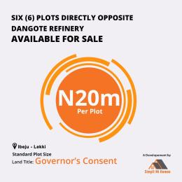 Commercial Land Land for sale Opposite Dangote Refinery Free Trade Zone Ibeju-Lekki Lagos