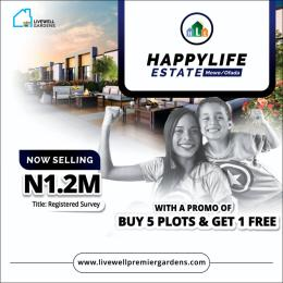 Residential Land Land for sale Mowe/Ofada axis Lagos Ibadaan Express Way 1 minute drive from Redemption Camp Opposite Christopher University Sagamu Ogun