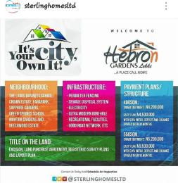 Land for sale HEBRON GARDENS Eleranigbe Ibeju-Lekki Lagos