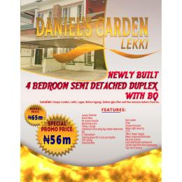 4 bedroom Semi Detached Duplex House for sale Osapa London, Lakki,  before Agungi, before Igbo Efon and few minute before Chevron Agungi Lekki Lagos