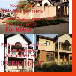 6 bedroom Detached Duplex House for sale Inside sand field Estate,  Satellite Town .Lagos Satellite Town Amuwo Odofin Lagos