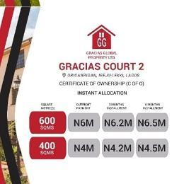 Residential Land Land for sale New Lagos Ibeju-Lekki Origanrigan Ibeju-Lekki Lagos