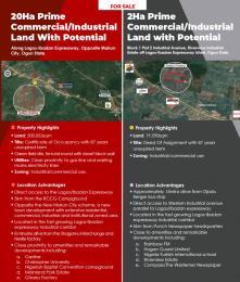 Industrial Land Land for sale Lagos - Ibadan Expressway Mowe Obafemi Owode Ogun