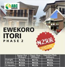 Land for sale 6mins drive from Ewekoro Itori phase 2 , ibese road Abese Ewekoro Ogun - 0