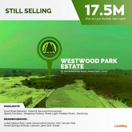 Residential Land Land for sale Off  Monastery road Sangotedo Lagos
