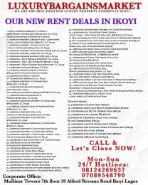 4 bedroom Flat / Apartment for rent Ikoyi S.W Ikoyi Lagos