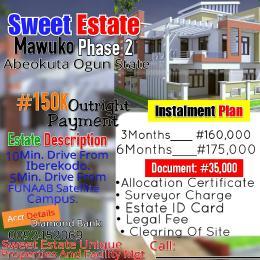 2 bedroom Mixed   Use Land Land for sale Sweet Estate behind Funaab satellite campus Mawuko Abeokuta Ogun