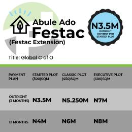 Land for sale Omonile Pure Water, Festac extension... with 50% deposit , you qualify for a trip to dubia in Nov Alaba Ojo Lagos
