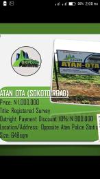 Land for sale . Ota-Idiroko road/Tomori Ado Odo/Ota Ogun