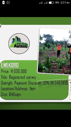 Land for sale . Abule Ado Ewekoro Ogun